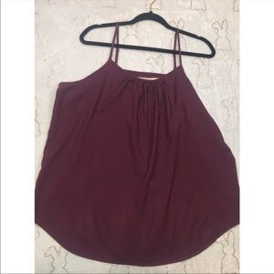 2a9d318cfdfbd Faded Glory Maroon Cami with Adjustable Straps